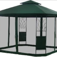Double Vent Screened Gazebo